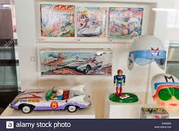 speed racer japanese manga character tin toys circa 1960s stock