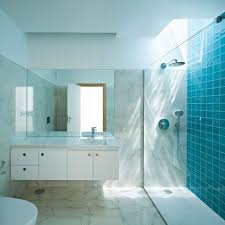 interior good looking modern blue bathroom decoration using blue