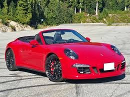 carmine red porsche 2015 porsche 911 carrera 4 gts cabriolet road test review
