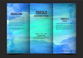 brochure templates free vector modern trifold brochure template free