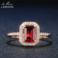 red jewelry rings images Lamoon 925 sterling silver jewelry rings classic 1 1ct facet jpg
