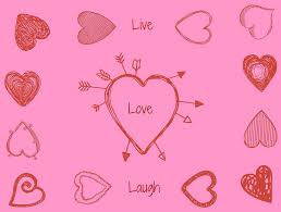 Love Laugh Live Free Illustration Love Laugh Live Pink Heart Free Image On