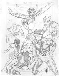 x men sketches by adam hughes from sketch to final pinterest