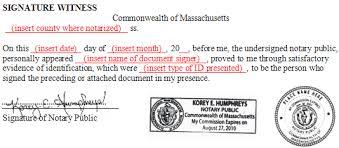 bureau notarial massachusetts notary