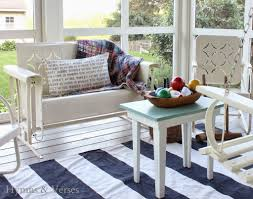 diy navy striped rug hymns and verses