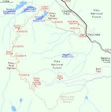 pikes peak near colorado springs central colorado