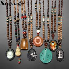 ethnic necklace aliexpress images Trendy ethnic nepal wenge wood beads necklaces natural stone gourd jpg