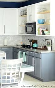two tone painted kitchen cabinet ideas exitallergy com