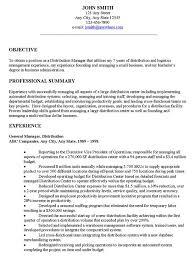 unthinkable resume objectives samples 14 warehouse resume
