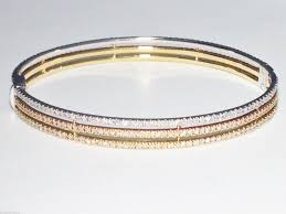rose color bracelet images 14k tri color white yellow rose gold diamond bangle bracelet 7 440 jpg