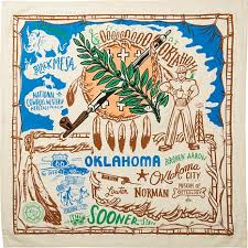 Oklahoma travel towel images Primitives by kathy state kitchen towel 8471011 hsn jpg