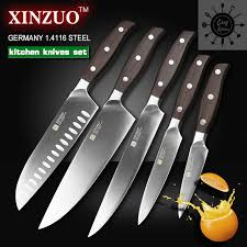 5pcs set knives inches chef knife layers japanese damascus steel
