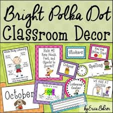 decor signs polka dot classroom labels and signs by erica bohrer tpt
