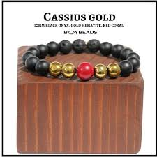 red beads bracelet images Cassius gold quot boybeads 10mm matte black onyx red coral gold