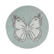 tapis rond chambre b tapis rond pour chambre de fille vert réversible butterfly