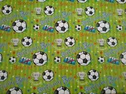football wrapping paper football birthday gift wrapping paper and tag quality glossy