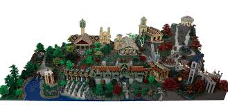 adult legos the oddness of adult lego featuring rivendell in lego