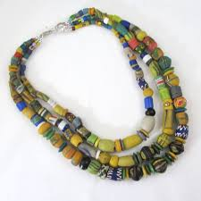 beads necklace handmade images Handmade african trade bead handmade multi colored necklace jpg