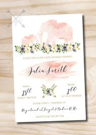 boho indian watercolor floral arrow baby shower invitation