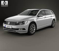 volkswagen passat black 2014 volkswagen passat b8 variant s 2014 3d model hum3d