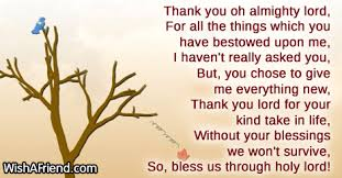 thank you oh almighty lord thank you thanksgiving prayers