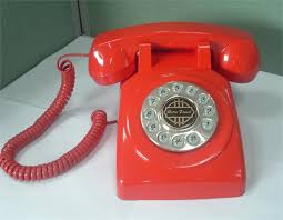 Desk Telephones 1950 Old Fashioned Telephone Red American Classic Antique
