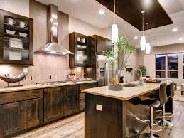 Galley Kitchens With Island - kitchen brown wood base cabinet brown glass front wood wall