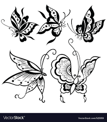 butterfly design royalty free vector image vectorstock