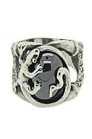 new arrival cool charm vintage stainless steel snake ring size8