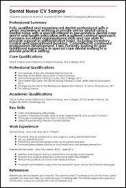 Interpersonal Skills On Resume Dental Nurse Cv Sample Myperfectcv