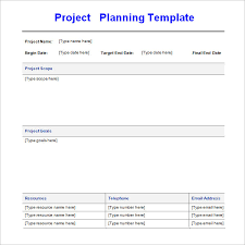 project planning template 4 free download for word excel pdf