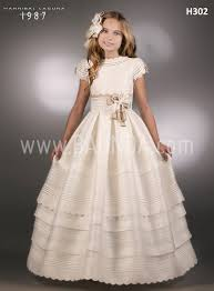 communion dresses baunda best communion dress hannibal laguna 2018 model h302 in madrid