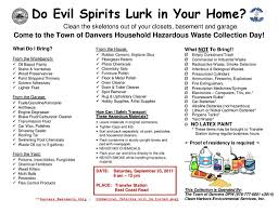 household hazardous waste day drop off planned town of danvers