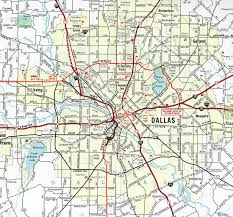 Dallas Map by Interstate Guide Interstate 35e 35w Texas