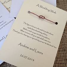 a wedding wish wedding wish bracelets wedding favours infinity knot table