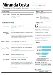 Photography Resume Example by Image Gallery Of Pleasant Design Videographer Resume 5