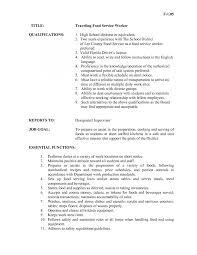 resume food service skills resume for food service worker restaurant server resume art