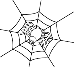 Halloween Pictures Coloring Pages Spider In The Center Of Web Coloring Page Halloween
