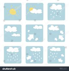 weather icons illustrations clip art isolated stock illustration