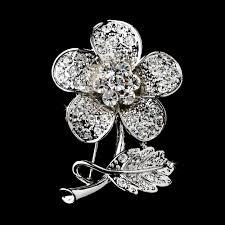 silver flowers brooch 94 silver wf wedding hair flowers