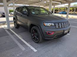 jeep grand cherokee 2017 blacked out 2017 jeep grand cherokee altitude with matte black vinyl wrap and