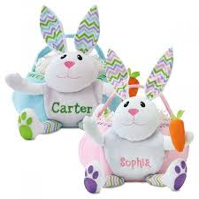 bunny easter basket personalized bunny easter baskets lillian vernon