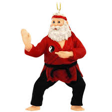 santa karate ornament hobbies christmas ornaments bronner u0027s