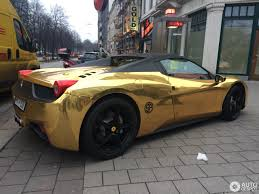 Ferrari 458 Gold - ferrari 458 spider 3 february 2017 autogespot