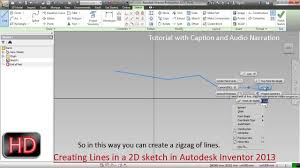 creating lines in a 2d sketch autodesk inventor youtube