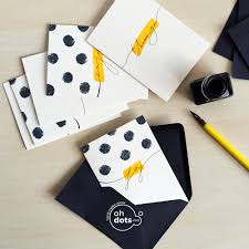 handmade cards inspired me in yellow set 8 pc handmade cards in a box oh dots
