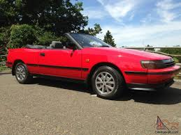 toyota celica 2 0 gt st 162 convertible cabriolet classic t bar