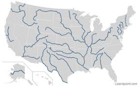 map of the us map of us and canada rivers united states mountain ranges map