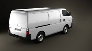 nissan caravan 2011 360 view of nissan urvan panel van low roof 2011 3d model hum3d