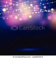 Holiday background with decorative string lights vector clip art